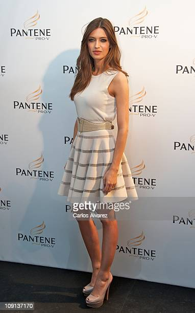 Sara Carbonero presents new Pantene campaing on February 15 2011 in Madrid Spain