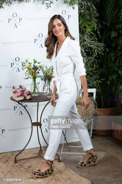 Sara Carbonero presents 'Popa' shoes new collection at The Principal Hotel on March 07 2019 in Madrid Spain