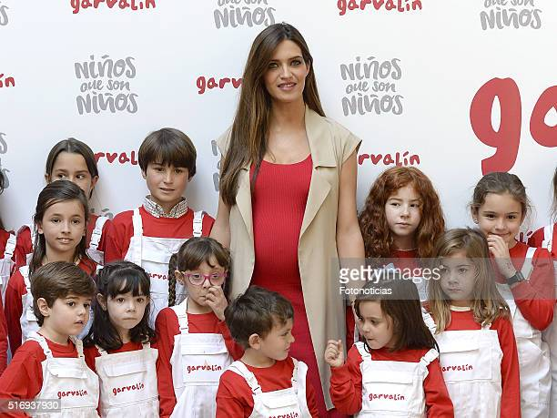 Sara Carbonero presents the audiovisual 'Children who are children' by Garvalin on March 22 2016 in Madrid Spain