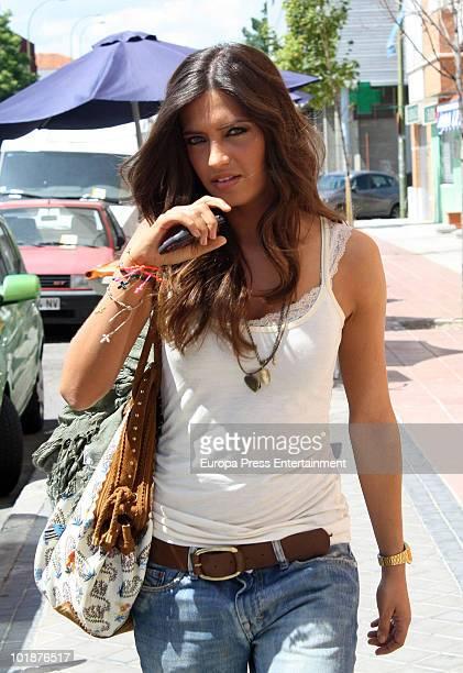 Sara Carbonero Spanish sports journalist and girlfriend of goalkeeper Iker Casillas sighting on June 8 2010 in Madrid Spain