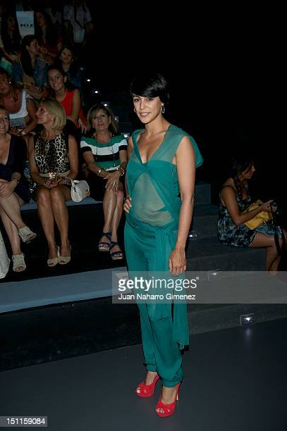 Sara Casasnovas attends a fashion show during the Mercedes Benz Madrid Fashion Week Spring/Summer 2013 at Ifema on September 2 2012 in Madrid Spain