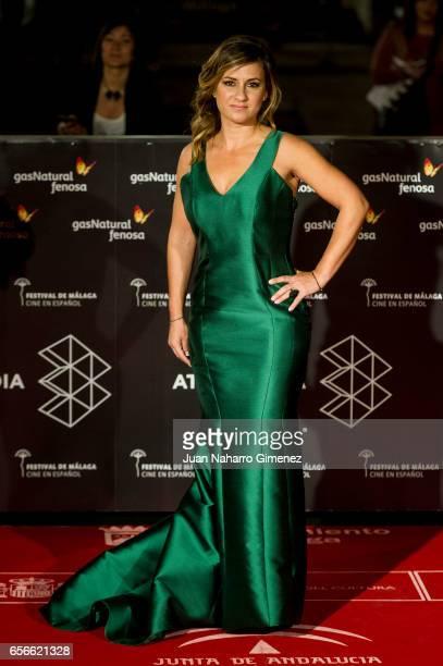 Sara Castro attends the 'Verano 1993' premiere at the Cervantes Teather on day 6 of the 20th Malaga Film Festival on March 22 2017 in Malaga Spain