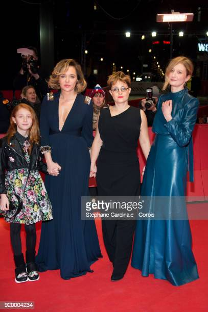 Sara Casu Valeria Golino Laura Bispuri and Alba Rohrwacher attend the 'Daughter of Mine' premiere during the 68th Berlinale International Film...