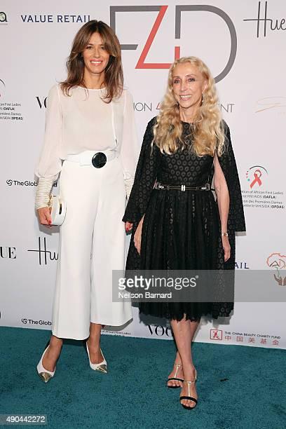 Sara Cavazza Facchini and goodwill ambassador Franca Sozzani attend the Fashion 4 Development's 5th annual Official First Ladies luncheon at The...