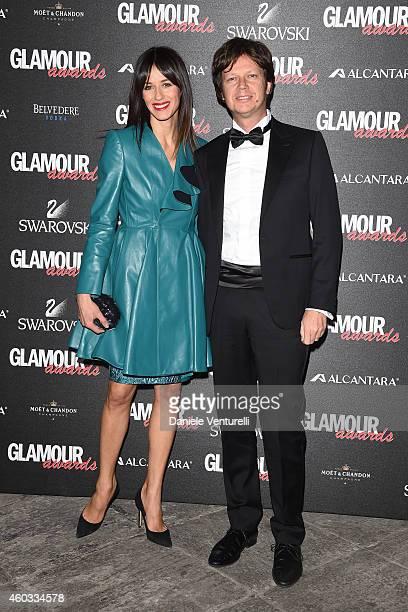 Sara Cavazza Facchini and Mathias Facchini attend Glamour Awards 2014 on December 11 2014 in Milan Italy