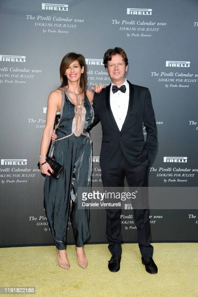 Sara Cavazza Facchini and Mathias Facchini attend the presentation of the Pirelli 2020 Calendar Looking For Juliet at Teatro Filarmonico on December...
