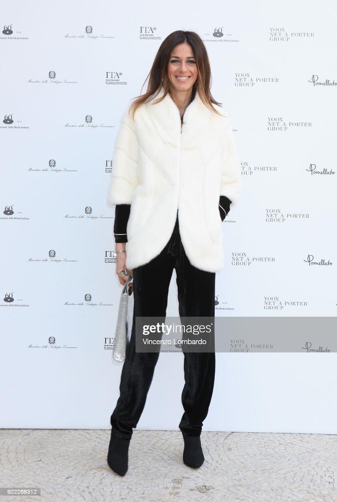 Sara Cavazza Facchini attends 'Italiana. L'Italia Vista Dalla Moda 1971-2001' exhibition preview during Milan Fashion Week Fall/Winter 2018/19 at Palazzo Reale on February 21, 2018 in Milan, Italy.