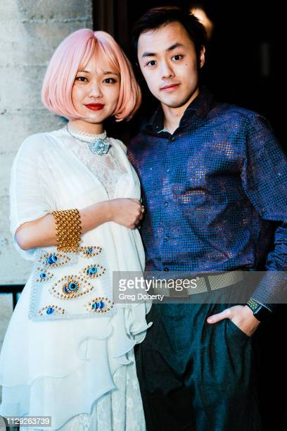 Sara Cline Creator of Milanblocks and Jeremy Cheung attend Sanctuary Fashion Week on March 7 2019 in Los Angeles California