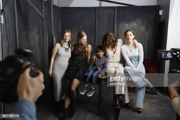 Sara Colangelo Anna Baryshnikov Parker Sevak Maggie Gyllenhaal and Rosa Salazar from 'The Kindergarten Teacher' attend The Hollywood Reporter 2018...