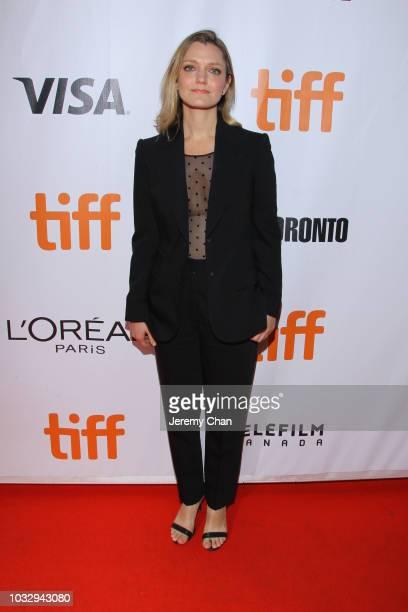 Sara Colangelo attends the The Kindergarten Teacher premiere during 2018 Toronto International Film Festival at Roy Thomson Hall on September 13 2018...