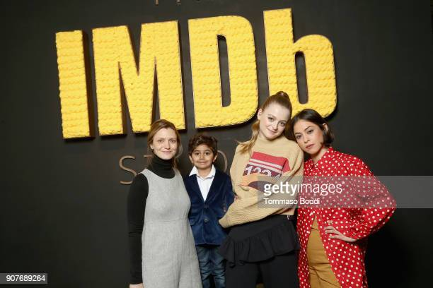 Sara Colangelo Parker Sevak Anna Baryshnikov and Rosa Salazar from 'The Kingergarten Teacher' attend The IMDb Studio and The IMDb Show on Location at...