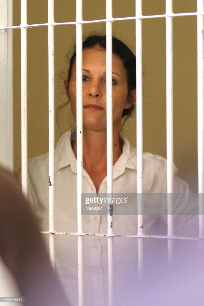 BALI, INDONESIA - (EUROPE AND AUSTRALASIA OUT) Sara Connor stands in the holding cells before sentencing at the Denpasar District Court in Bali, Indonesia.
