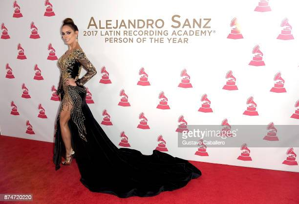 Sara Corrales attends the 2017 Person of the Year Gala honoring Alejandro Sanz at the Mandalay Bay Convention Center on November 15, 2017 in Las...