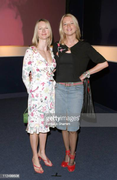 Sara Cox and her sister during Hell's Kitchen II Day 11 Arrivals at Truman Brewery in London Great Britain