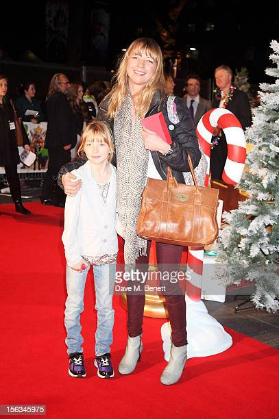 Sara Cox and Lola Cox attend the 'Nativity 2 Danger In The Manger' premiere at Empire Leicester Square on November 13 2012 in London England