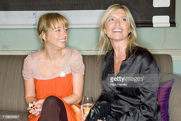 Sara Cox and Tina Hobley during Westfield London Celebrates BFC Fashion Forward Party Inside at Home House in London Great Britain