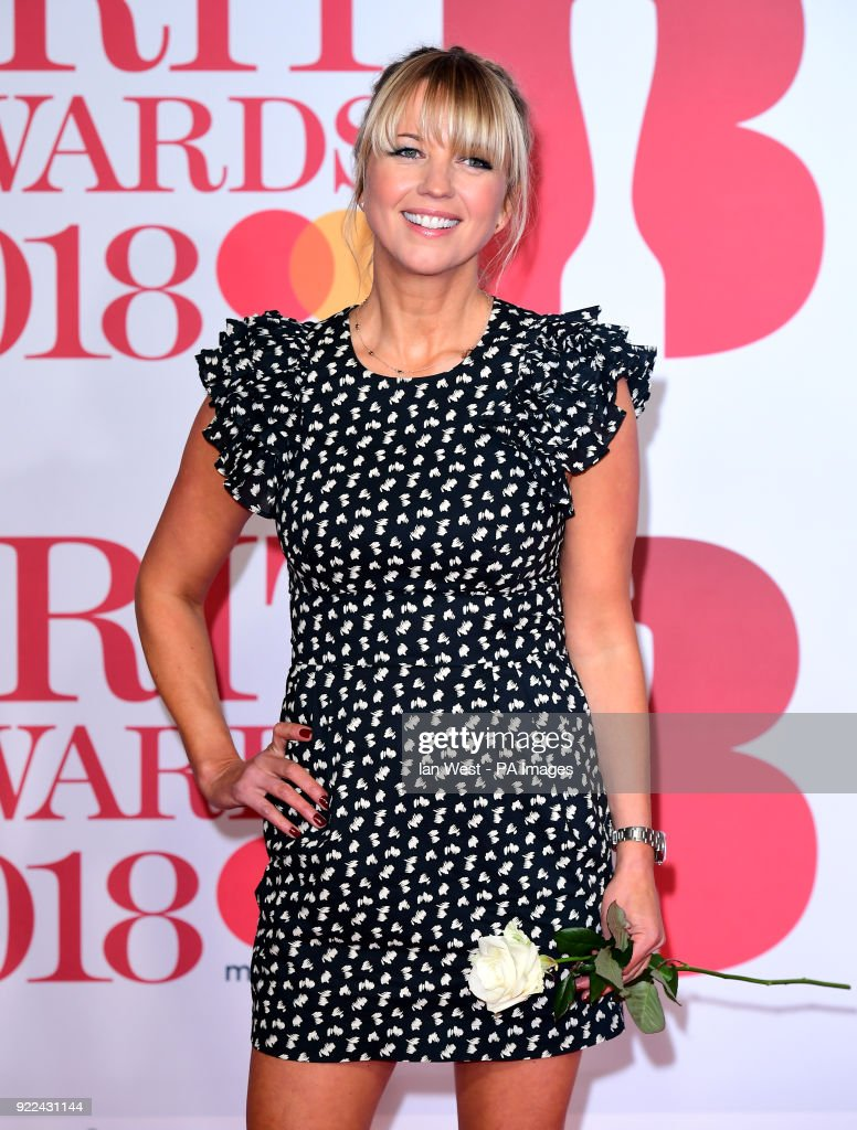 Sara Cox attending the Brit Awards at the O2 Arena, London