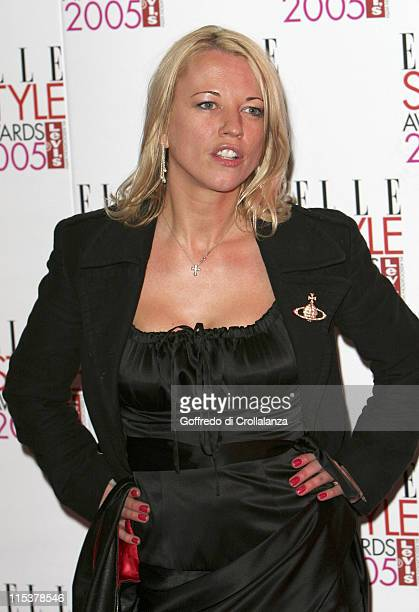 Sara Cox during Elle Style Awards 2005 Arrivals at Spitalfields in London Great Britain