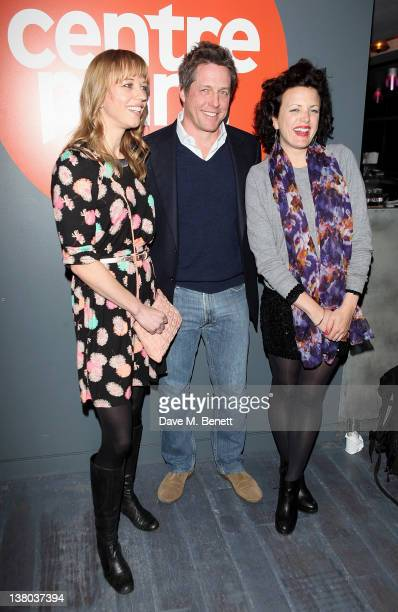 Sara Cox Hugh Grant and Annie Mac attend the Centrepoint Ultimate Pub Quiz 2012 in aid of homeless charity Centrepoint at Paramount Club on January...