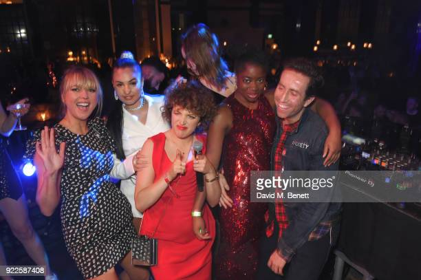 Sara Cox Mabel Annie Mac Alexa Chung Clara Amfo and Nick Grimshaw attend the Universal Music BRIT Awards AfterParty 2018 hosted by Soho House and...