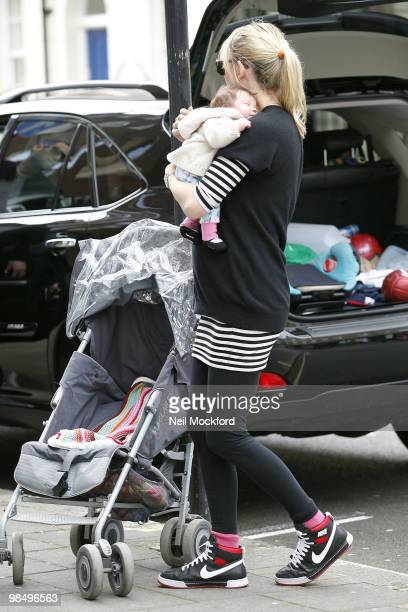 Sara Cox Sighted with her new baby Renee on April 16 2010 in London England