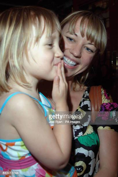 DJ Sara Cox with her daughter Lola as they attend Angelina Ballerina's Star Performance at the start of the 12 week regional tour across the UK at...