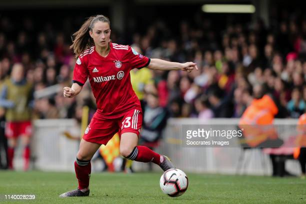 Sara Dabritz of Bayern Munchen during the UEFA Champions League Women match between FC Barcelona v Bayern Munchen at the Mini Estadi Barcelona on...