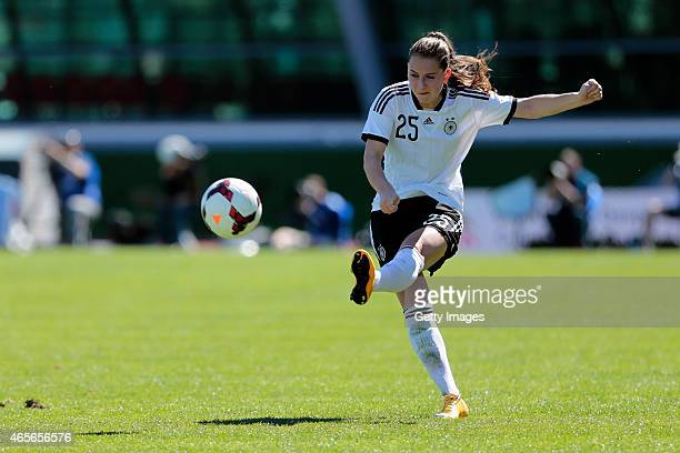 Sara Dabritz of Germany during the Women's Algarve Cup match between Germany and China on March 6 2015 in Vila Real de Santo Antonio Portugal