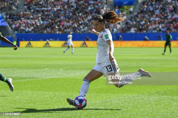 Sara Daebritz of Germany during the Women's World Cup match between Germany and Nigeria at Stade des Alpes on June 22 2019 in Grenoble France