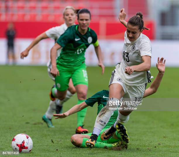 Sara Daebritz of Germany in action during the 2019 FIFA women's World Championship qualifier match between Germany and Slovenia at Audi Sportpark on...