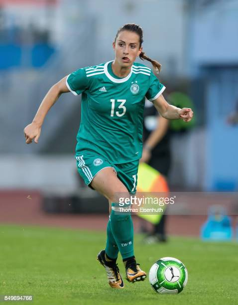 Sara Daebritz of Germany in action during the 2019 FIFA Women's World Championship Qualifier match between Czech Republic Women's and Germany Women's...