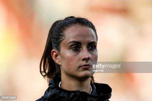 Sara Daebritz of Germany looks on prior the UEFA Women's Euro 2017 at Koning Willem II Stadium on July 21 2017 in Tilburg Netherlands