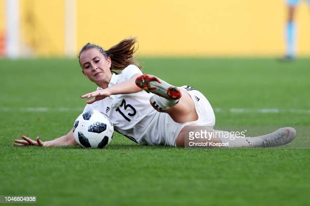Sara Daebritz of Germany runs with the ball during the International friendly match between Germany Women and Austria Women at Stadion Essen on...