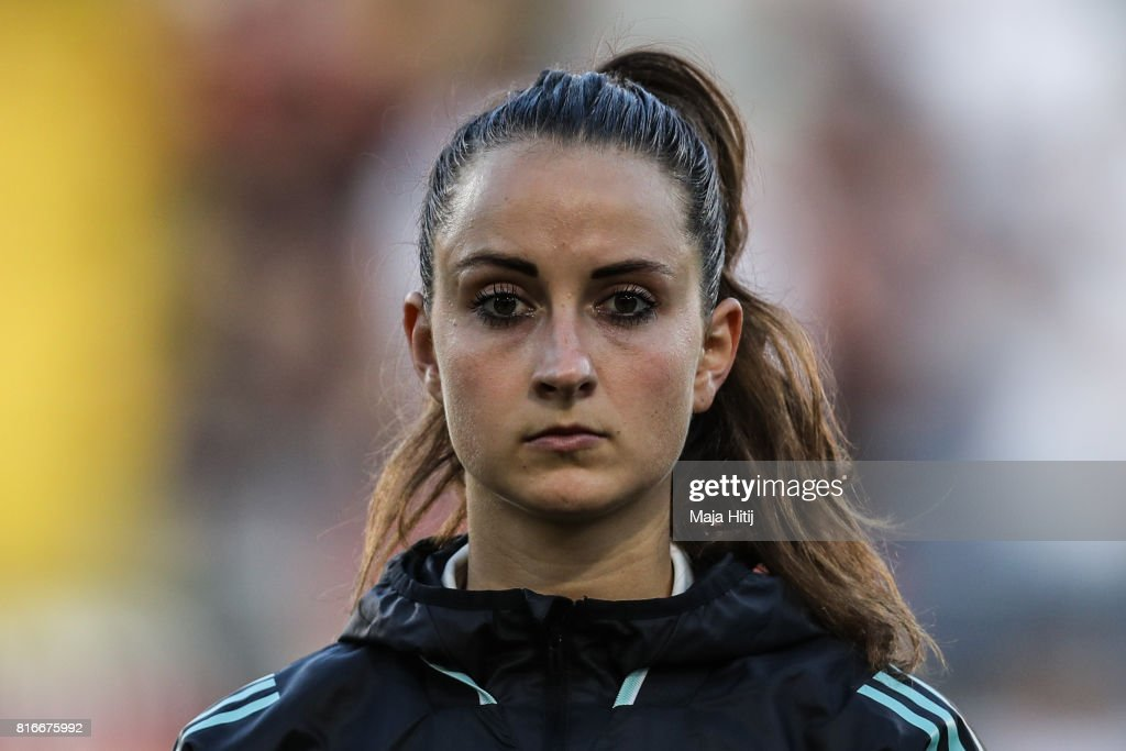 Sara Daebritz of Germany stands prior the Group B match between Germany and Sweden during the UEFA Women's Euro 2017 at Rat Verlegh Stadion on July 17, 2017 in Breda, Netherlands.