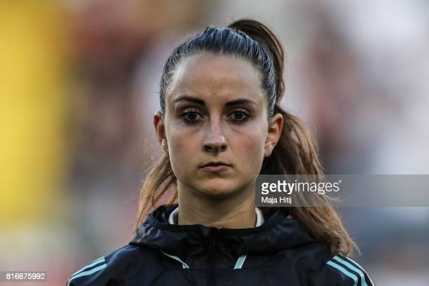 Sara Daebritz of Germany stands prior the Group B match between Germany and Sweden during the UEFA Women's Euro 2017 at Rat Verlegh Stadion on July...