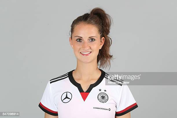 Sara Daebritz of the German women's national football team poses during the team presentation on June 21 2016 in Grassau Germany