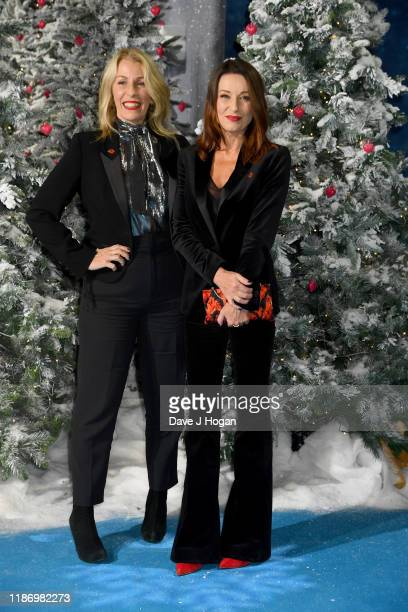 Sara Dallin and Keren Woodward attend the Last Christmas UK Premiere at BFI Southbank on November 11 2019 in London England