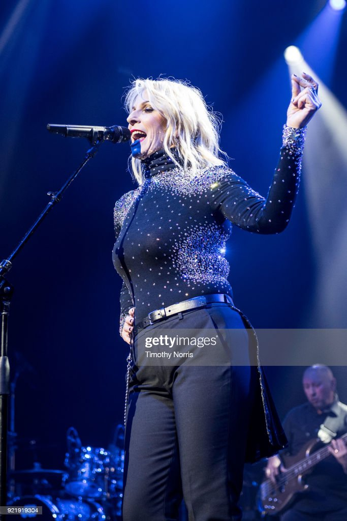 Sara Dallin of Bananarama performs at The Novo by Microsoft on February 20, 2018 in Los Angeles, California.