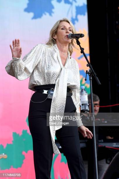 Sara Dallin of Bananarama performs on stage during BBC2 Radio Live 2019 at Hyde Park on September 15 2019 in London England