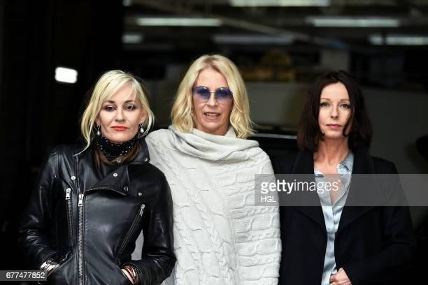 Sara Dallin Siobhan Fahey and Keren Woodward of Bananarama seen at the ITV Studios on May 3 2017 in London England