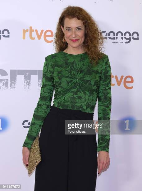 Sara Delay attends the 'Fugitiva' Tv series premiere at Callao cinema on April 2 2018 in Madrid Spain