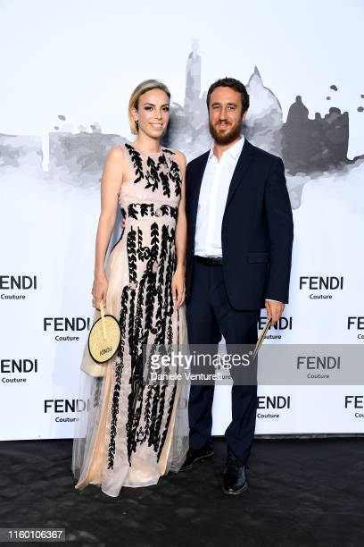 Sara Delettrez Fendi and Giulio Delettrez Fendi attend the Cocktail at Fendi Couture Fall Winter 2019/2020 on July 04 2019 in Rome Italy