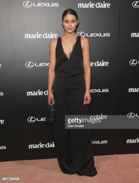 Sara Donaldson arrives ahead of the 2017 Prix de Marie Claire Awards on August 15 2017 in Sydney Australia