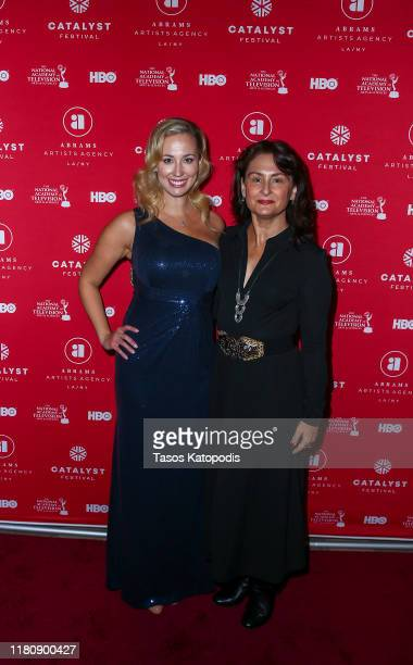 Sara Donnelly and Greta Glagit attend the Catalyst Content Awards Gala on October 13 2019 in Duluth Minnesota