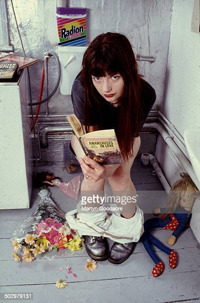 Sara Doran of British indie band Blessed Ethel, portrait, United Kingdom, 1994.