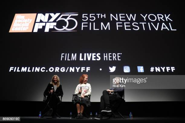 Sara Driver Alexis Adler and Kent Jones attend a QA for the screening of 'Boom For Real' during the 55th New York Film Festival at Alice Tully Hall...