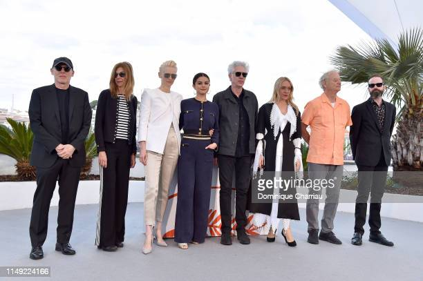 "Sara Driver, Tilda Swinton, Selena Gomez, Jim Jarmusch, Chloe Sevigny, Bill Murray attend the photocall for ""The Dead Don't Die"" during the 72nd..."