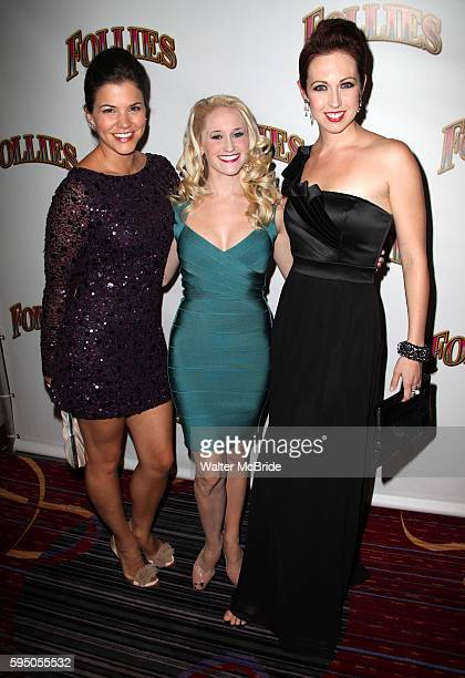 Sara Edwards Amanda Kloots Larsen Danielle Jordan attending the Broadway Opening Night After Party for 'Follies' in New York City
