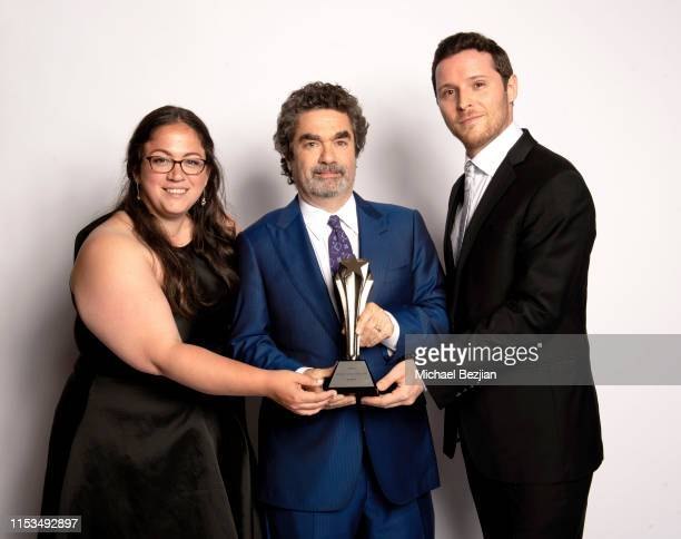 Sara Enright, Joe Berlinger, and Sam Broadwin, winners of the Best Crime/Justice Show award for 'Conversations with a Killer: The Ted Bundy Tapes' at...