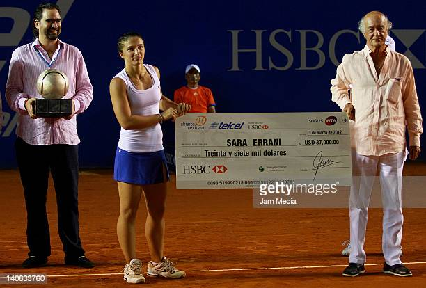 Sara Errani during Finals of the 2012 Mexican Open at Princess Hotel on March 3 2012 in Acapulco Mexico